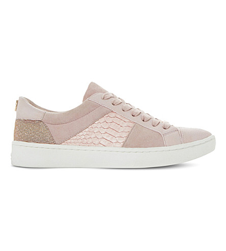 DUNE Egypt leather trainers (Pale+pink-leather