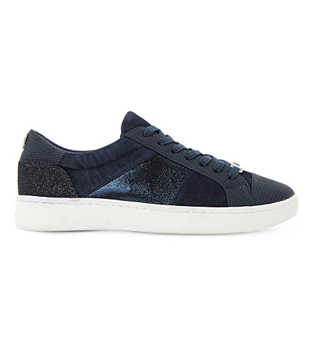 DUNE Egypt leather trainers (Navy-embossed+leather