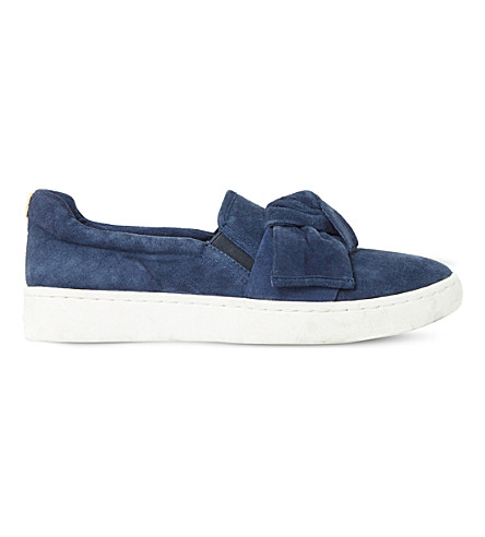 DUNE Ebow suede skate shoes (Navy-suede