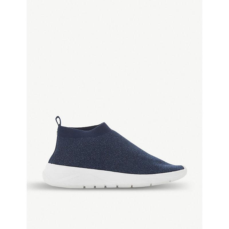 DUNE Emerald fabric sock trainers