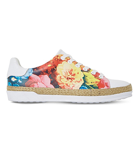 DUNE Elissa espadrille leather trainers (Multi-printed+synthetic