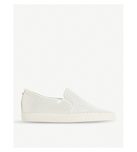 DUNE Eclypse perforated slip-on trainers (White