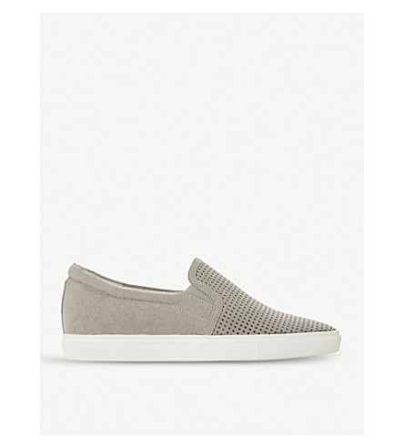 DUNE Eclypse perforated slip-on trainers (Grey