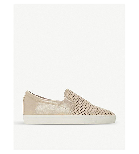 DUNE Eclypse perforated slip-on trainers (Blush-metallic