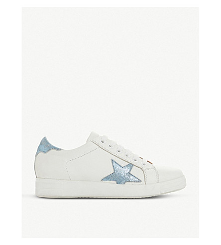 DUNE Edris leather trainers (White-leather