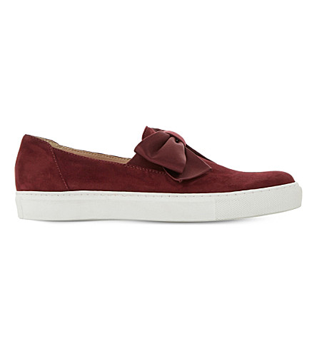 DUNE Emelia suede skate shoes (Berry-suede