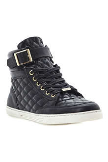 DUNE Lilted quilted high-top trainers