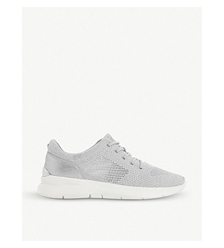 DUNE Euphoric knit trainers (Silver-fabric