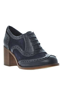 BERTIE Amor suede and leather heeled brogues