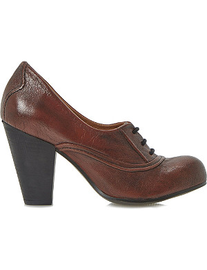 BERTIE Annise leather lace up court shoes