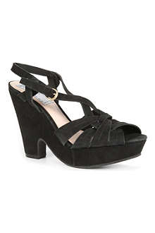 BERTIE Helene suede wedge sandals
