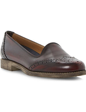 BERTIE Brogue detail leather loafers