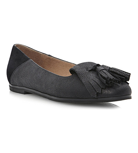 BERTIE Liza leather and suede pumps (Black-suede