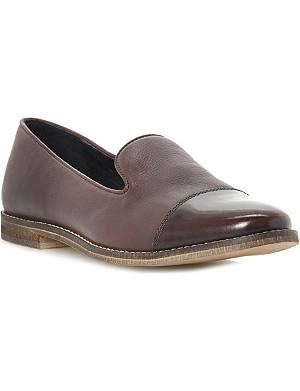 BERTIE Patent toe-cap slippers