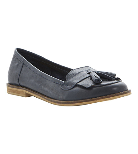 BERTIE Lako leather tassel loafers (Navy-leather
