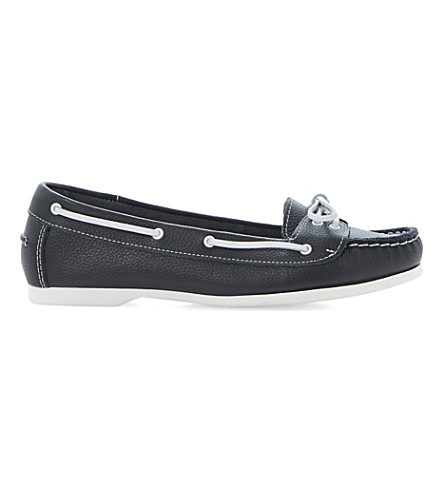 BERTIE Lester leather boat shoes (Navy-leather