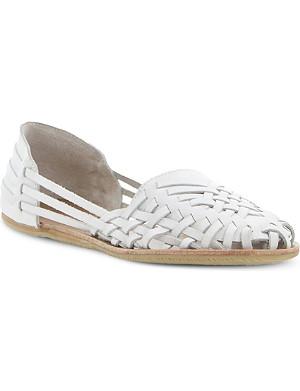 BERTIE Luanda leather huarache loafer