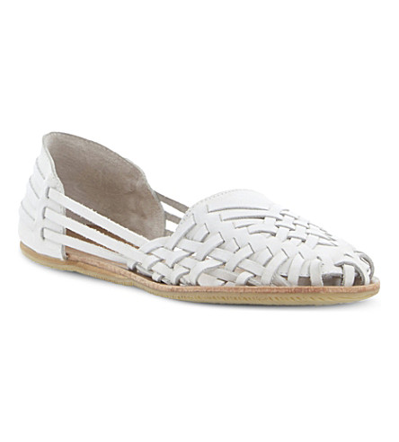 BERTIE Luanda leather huarache loafer (White leather