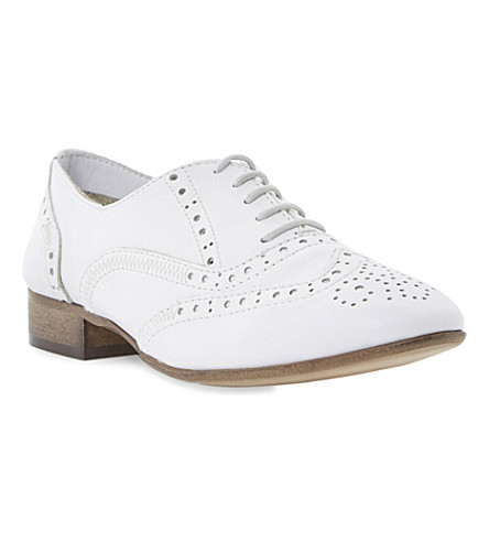 BERTIE Leather lace up brogue (White-leather