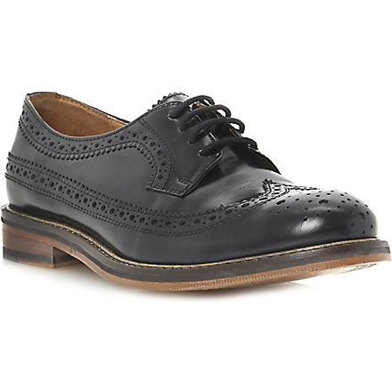 BERTIE Lace-up leather brogues (Black-leather