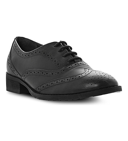 BERTIE Luka leather lace-up brogues (Black leather