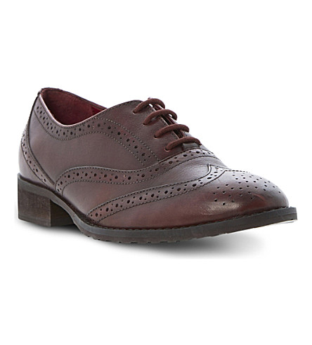 BERTIE Luka leather lace-up brogues (Burgundy-leather
