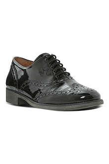 BERTIE Leopold lace up patent brogues