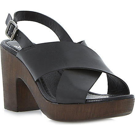 BERTIE Heeley slingback platform sandals (Black-leather