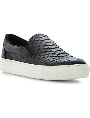 BERTIE Putney leather plimsoles