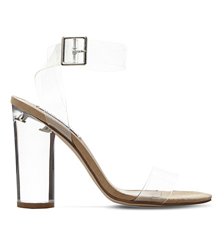 STEVE MADDEN Open-toe transparent sandals (Clear-synthetic