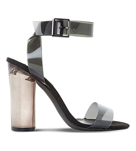 STEVE MADDEN Open-toe transparent sandals (Grey-synthetic
