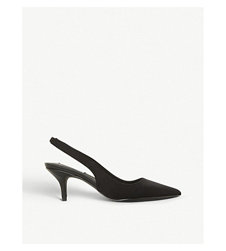 STEVE MADDEN Marks suede and leather courts (Black
