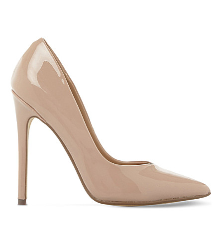 STEVE MADDEN Wicket patent court shoes (Nude-patent
