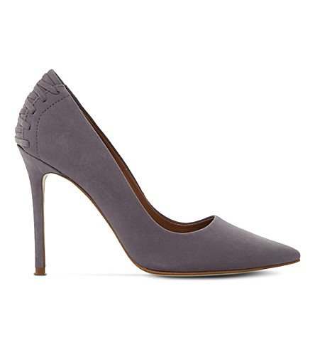 STEVE MADDEN Paiton suede lace-up courts (Grey-nubuck