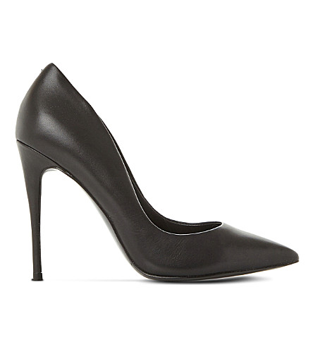 STEVE MADDEN Daisie leather heeled courts (Black-leather