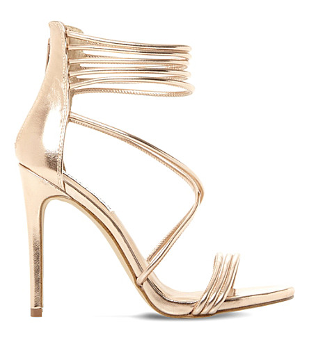 STEVE MADDEN Answer sm metallic leather sandals (Rose+gold-leather