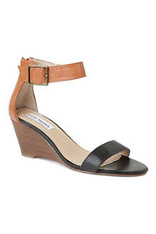 STEVE MADDEN Nanncy leather wedge sandals