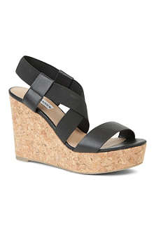 STEVE MADDEN Terror cork wedge sandals