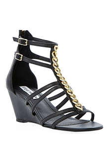 STEVE MADDEN Nataly chain-detail wedge sandals