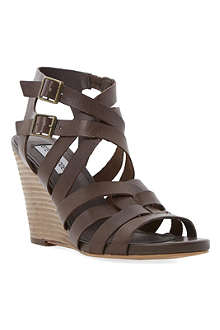 STEVE MADDEN Venis leather wedge sandals
