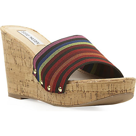 STEVE MADDEN Elasticated wedge sandal (Multi-synthetic