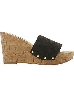 STEVE MADDEN Elasticated wedge sandal