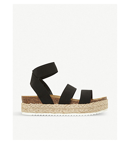 STEVE MADDEN Kimmiee suede and jute sandals (Black