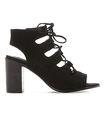 STEVE MADDEN Nilunda suede heeled sandals (Black-suede