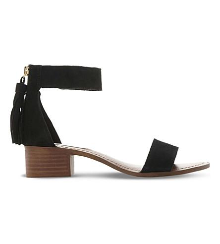 STEVE MADDEN Darcie suede heeled sandals (Black-suede