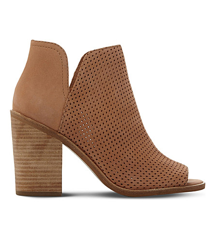 STEVE MADDEN Tala perforated nubuck boots (Tan-nubuck