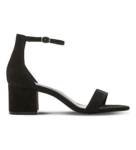 STEVE MADDEN Irenee suede heeled sandals (Black-nubuck