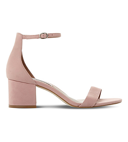 STEVE MADDEN Irenee suede heeled sandals (Pink-nubuck