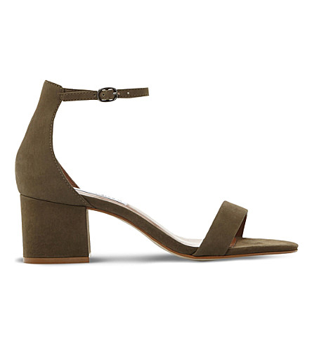 STEVE MADDEN Irenee suede heeled sandals (Khaki-nubuck