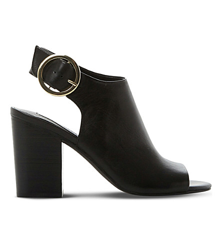 STEVE MADDEN Etta peep-toe leather sandals